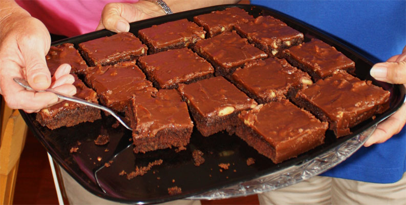 Berry Fresh Cafe Brownies
