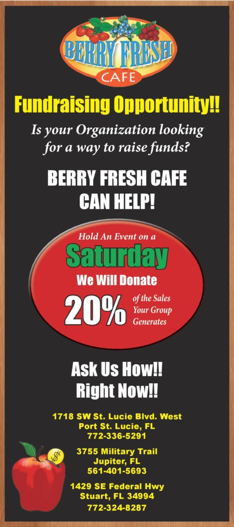 Fundraising Opportunities with Berry Fresh Cafe